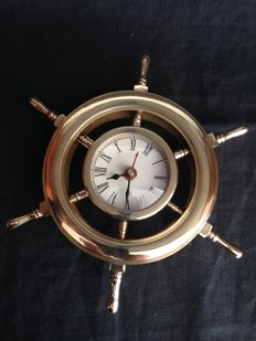 Vintage clock rudder in bronze 100%