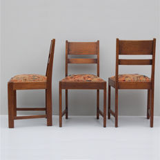 Maker unknown - Art Deco dining chair x3