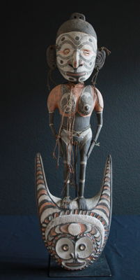 Highly Expressive YATMÜL Hook Sculpture from Papua New Guinea