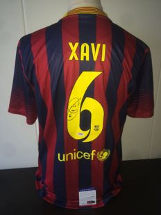 Amazing Xavi hand signed FC Barcelona shirt + COA PSA/DNA!
