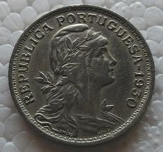 Portugal Republic – 50 Centavos – 1930 – Alpaca