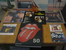Big Stones lot: 3 lp's and 1 mega rare Mini disc from Angie and 1 book 50 years stones+1 x 45. single+2 original CD singels (paint it black+etc)