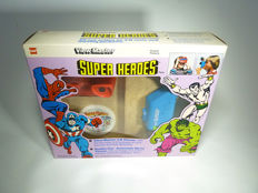 Large View-Master super heroes gift set with Viewer, 9 reels and Double Vue film viewer with 2 films