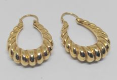 18 kt yellow gold earrings - Length: 2.9 cm