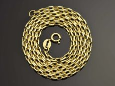 18k Gold Necklace. Chain - 50 cm. Weight 2.99 g. No reserve price.