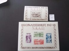 Saarland 1947/1959 - collection  on album sheets, mainly MNH