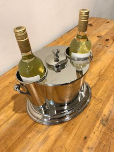 Wine Cooler for 2 bottles with ice compartiment in the middle