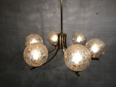 unknown designer - candelabra, lamp with 6 spheres.