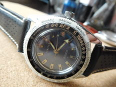 TANIVAN - Pirania  Submariner 50 m. WORLD TIME - Men's wristwatch From the late 1960s