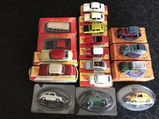 Solido / Norev - Scale 1/43 - Lot with 15 models: Seat, Simca, Citroen, Triumph, Mini & Renault