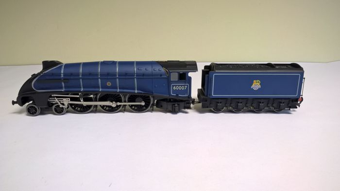 Bachmann 00 - 31-954-steam locomotive with separate tender - A4 60009 Sir Nigel Gresley -B.R. Blue Early Emblem (30s) - first edition of 1996