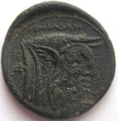 "Greek antiquity - Akarnaia Oeniadai   219-211 b.C. AE 21 ""God Achelous and Zeus """