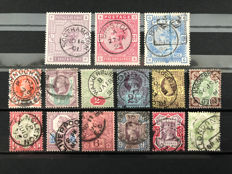 Great Britain, Queen Victoria 1883/1887 - A small collection Stanley Gibbons 175,178,183 and 197/211