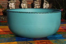 Barbara Nanning - Large 'Mexican' turquoise bowl