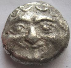 "Greek antiquity - Mysia Parion ""Πάριον""  ca 480 b.C. silver  3/4 Drachm "" Gorgoneion"""