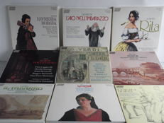 Collection RCA Audiophile Half Speed Mastered Opera Classics - 9 Complete Italian Opera's on 19 LP's - Bellini / Donizetti / Puccini / Rossini & Verdi