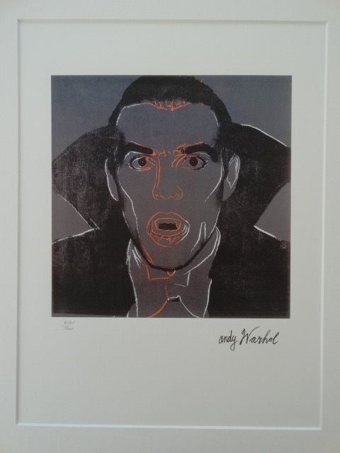 Dracula Lithograph By Andy Warhol  - Signed And Numbered