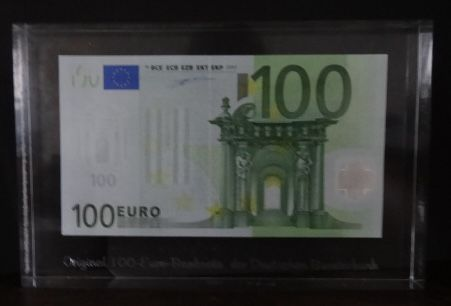 European Union - Germany - 100 euro 2002 - Duisenberg - in Acryl - uitgegeven door de Duitse Bank