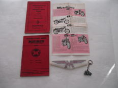 MATCHLESS - Original old folder, 2 instruction booklets, transfer and key ring Matchless motorcycle