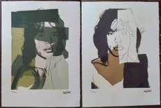 Two limited edition off set lithographic prints by Andy Warhol (after) - Mick Jagger
