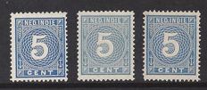 Dutch East Indies 1883 - Printed matter stamps - NVPH 22 in three colour variations