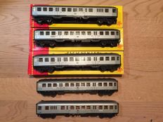 Fleischmann H0 - 1511/1512/1513 - 5 carriages Silberlinge