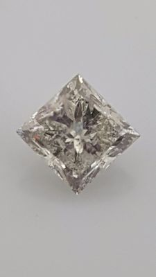 1.02 ct - Princess - White - H / SI2