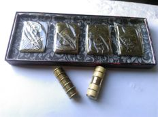 Box with 4 new, vintage lighters + 2 Brissaud Paris lighters, 1950