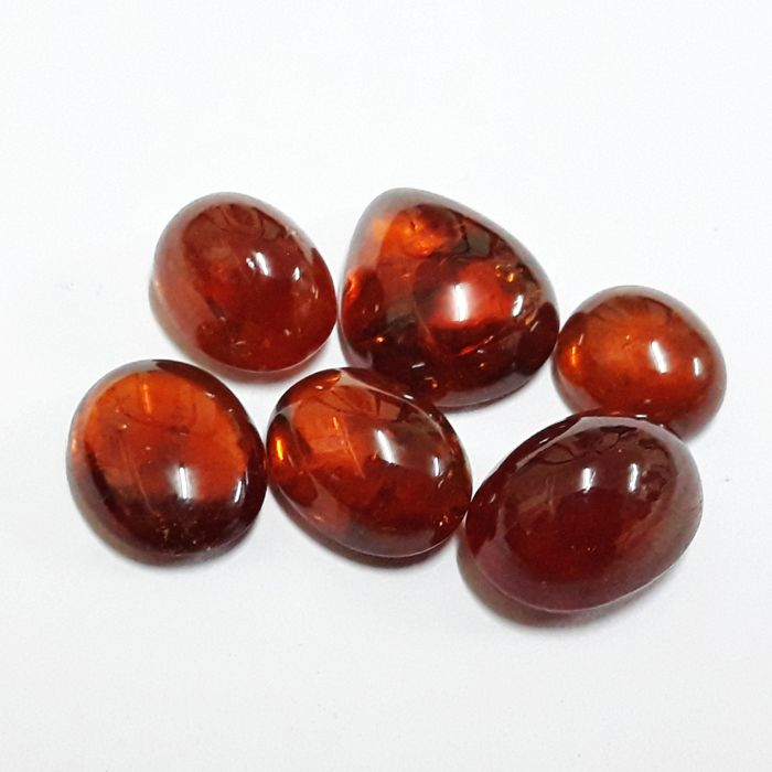 Lot of bright spasatite garnet mix - 51.25 ct