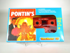 Pontin's Holiday Club, rare commercial View-Master gift set - viewer and 3 reels in original packaging