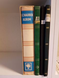 England 1840/1940 - collection in 3 stock books and in album