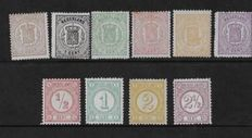 Netherlands 1869/1894 - National Coat of Arms and Drukwerk stamps - NVPH 13/18 + 30b/33a
