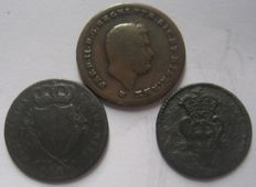 Genoa and Naples - Lot of 3 coins