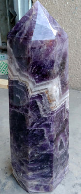 Giant Amethyst point / Dogtooth and or Chevron Amethyst - 4.65 kg - 355 mm