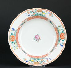Antique Chinese Porcelain Floral Verte Plate - China - 18th Century
