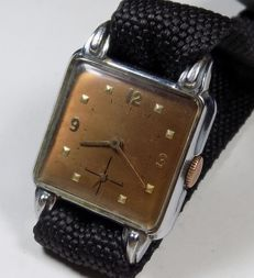 Art-Deco - Square Tank - Antique Lugs - No Name - 1940 - Men's Wristwatch