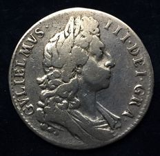 United Kingdom – ½ Crown 1696 William III – silver