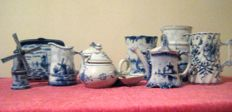 Collection of Delft porcelain