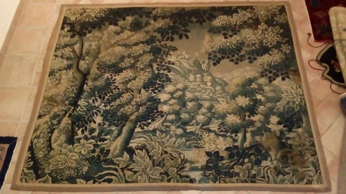 Fragment of tapestries of Aubusson, France, 19th century