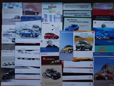 1997 - 2011 -  CITROEN Saxo, Xsara Coupé, Xantia, C3 Pluriel, C4, C5 by Carlsson, C1, C3, Berlingo, etc - Mixed lot of 42 original sales brochures