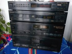 Beautiful vintage Pioneer A-X320 Stereo Amplifier, PD-X520 CD Player, F-X420L Tuner, CT-X420W Double Cassette Deck - 1987s