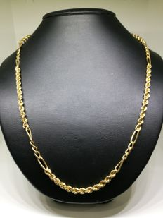 Chain necklace of 18 kt/750 gold - 50 cm