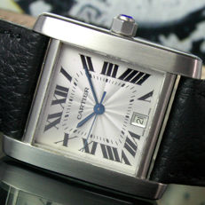 Cartier Tank Française Ref. 2302 - Mens Watch - 1980s