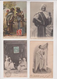 Very good lot of 80 old postcards from Algeria and Morocco