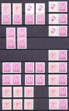 Belgium 1970/1990 - Collection of stamp booklets and combinations from booklets, with some duplicates