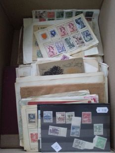World - Batch of stamps, letters, etc., from classic onwards.