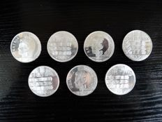 The Netherlands - 10 guilder Beatrix 'Benelux 1944–1994' - 7 pieces - silver