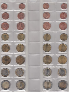 Luxembourg - year sets of euro coins 2002/2012 (11 items)