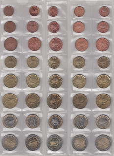 Ireland - year sets of euro coins 2002/2012 (11 items)