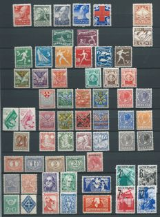 The Netherlands 1913/1932 - selection of stamps and sets on stock card